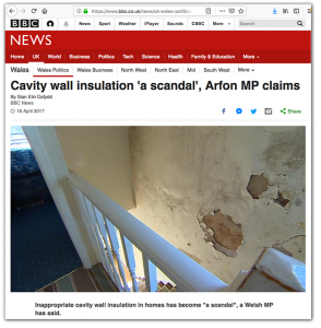 Cavity wall scandal
